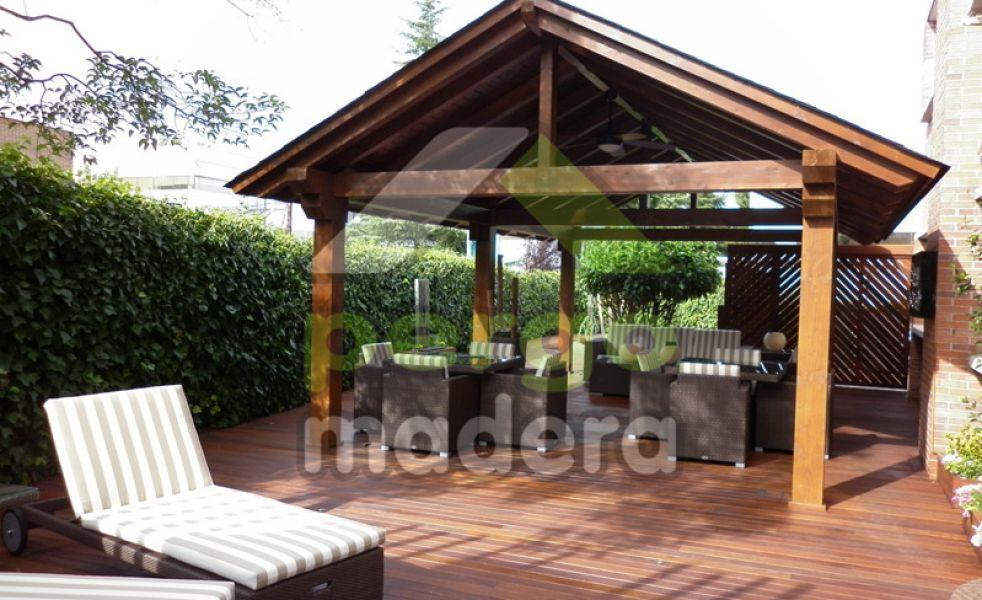 Cenador de madera de exterior - Maderas de exterior precios ...