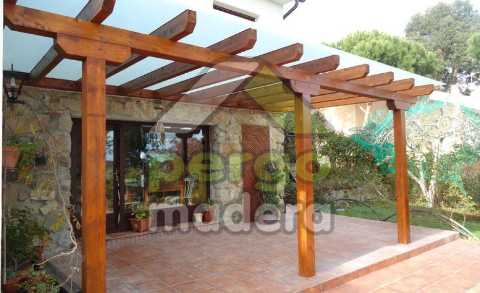 P rgolas de madera de exterior for Pergolas de madera bricor