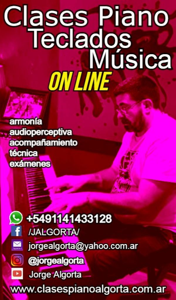 Piano, Teclados CLASES ON LINE