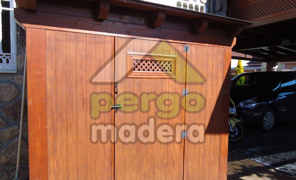 Caseta de madera pergomadera for Caseta jardin ergo