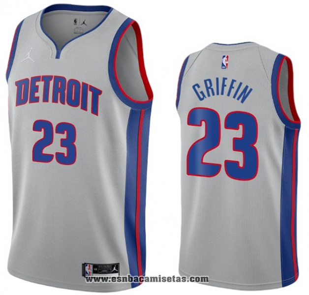 Camiseta Detroit Pistons Blake Griffin NO 23 Statement 2020-21 Gris