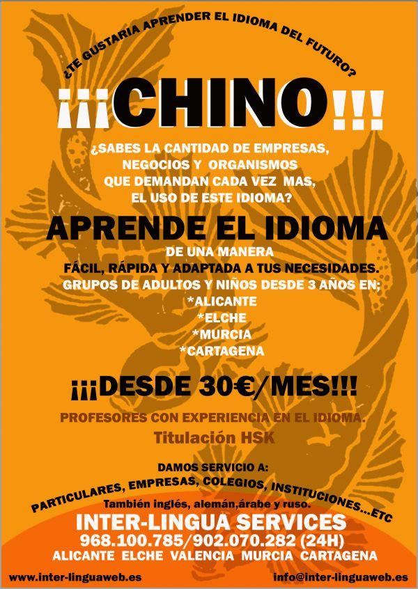Cursos de Chino; Ruso;Alemu00e1n e Ingles - Comunidad Valenciana y Murcia