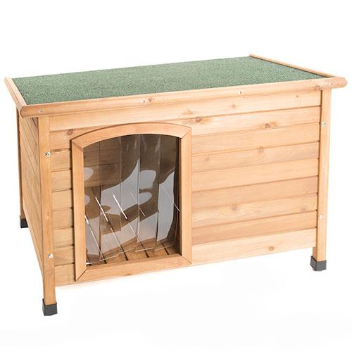 Caseta para perros technical pet de madera con puerta for Caseta perro pequeno